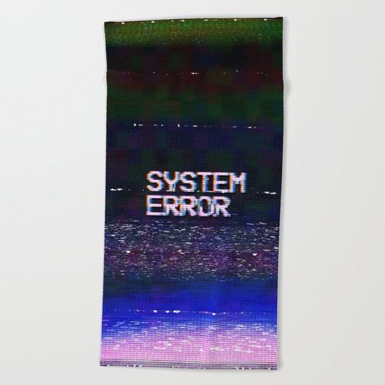 System Error Beach Towel