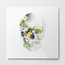 Skull Bouquet B Metal Print
