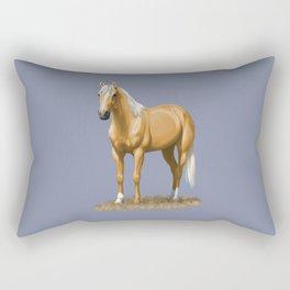 Beautiful Palomino Quarter Horse Rectangular Pillow