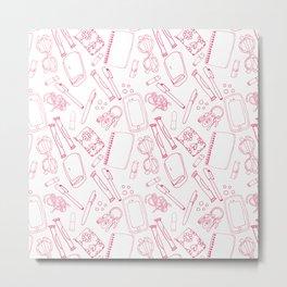 In My Bag - Pink Metal Print