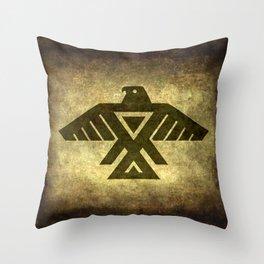 Symbol of the Anishinaabe, Ojibwe (Chippewa) on  parchment Throw Pillow