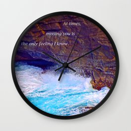 """""""Kauai's Land's End #9"""" with poem: At Times Wall Clock"""