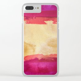 color abstract 4 Clear iPhone Case