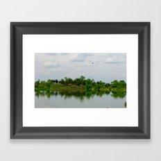 Lake on the Prairie Framed Art Print