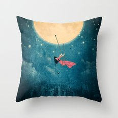 While the city sleeps... Throw Pillow