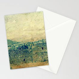 Vintage forgotten town in the desert Stationery Cards