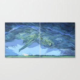 Clouds #9 Diptych Canvas Print