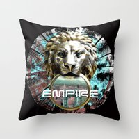 lions Throw Pillows featuring LIONS by infloence