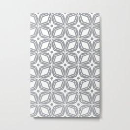 Starburst - Grey Metal Print