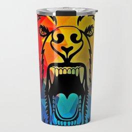 Rainbow Bear Travel Mug