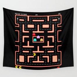 """Ms. Pac-Man """"Nom, Nom, Nom""""  Wall Tapestry"""