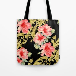 Scroll Azelea in Black Tote Bag