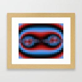 Fractal Compound eyes. Framed Art Print
