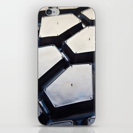 Black rubber tire for tractors and excavator iPhone Skin