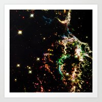 cosmic Art Prints featuring Cosmic by 2sweet4words Designs