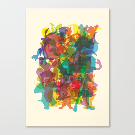 50 famous characters (solid) Canvas Print