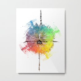 Colored Ballet dancer Metal Print