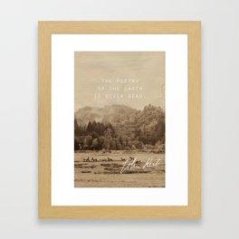 Keats: Poetry Framed Art Print