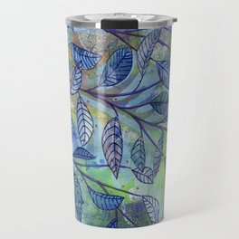 red and blue Travel Mug