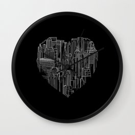 Heart Of Manhattan  Wall Clock