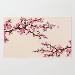 Japanese Sakura Cherry Blossoms (ivory/pink) Rug