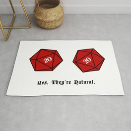 Yes, They're Natural. D20 Rug