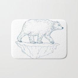Polar Bear Walking Iceberg Ukiyo-e Bath Mat