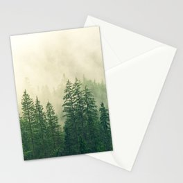 Fog over the mountains Stationery Cards