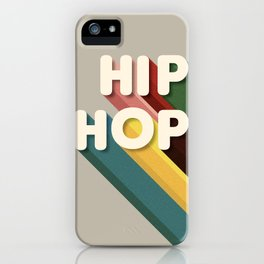 HIP HOP - typography iPhone Case