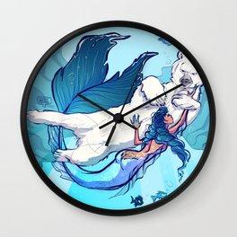 arctic mermaid Wall Clock