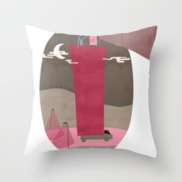 A Traveling Cinema Throw Pillow
