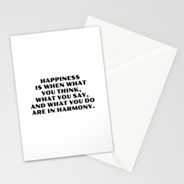 Happiness is when what you think -  Gandhi Stationery Cards