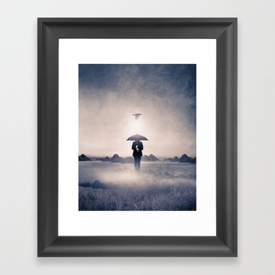 Waiting for the rain (colour option) Framed Art Print