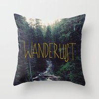marina and the diamonds Throw Pillows featuring Wanderlust: Rainier Creek by Leah Flores