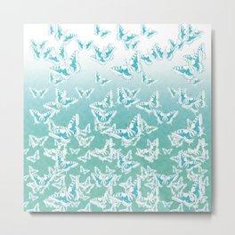 blue butterflies in the sky Metal Print