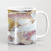 shells Mugs featuring Shells by jacqi elmslie