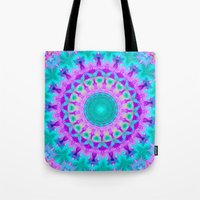 kaleidoscope Tote Bags featuring Kaleidoscope by Sylvia Cook Photography