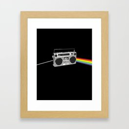 Dark Side of the Boombox Framed Art Print