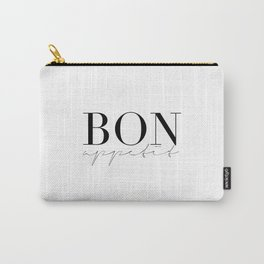 Bon Appetit,french Quote,Kitchen Sign,Kitchen Wall Art,Home Decor,Quote Prints,Typography Print Carry-All Pouch