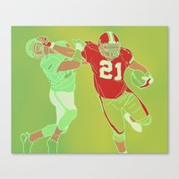 "49ers Canvas Prints featuring 49ers ""Frank"" Gore by Courtney Charlton"