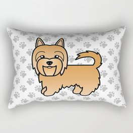 Sandy Australian Terrier Dog Cute Cartoon Illustration Rectangular Pillow
