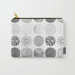 Abstract modern black geometric hand drawn pattern Carry-All Pouch
