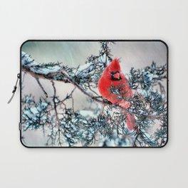 Valentine's Day Blizzard Cardinal Laptop Sleeve