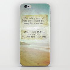 She Left Pieces iPhone & iPod Skin