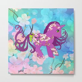 g1 my little pony cherry blossoms Metal Print