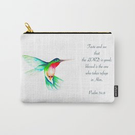 hummingbird watercolour Carry-All Pouch