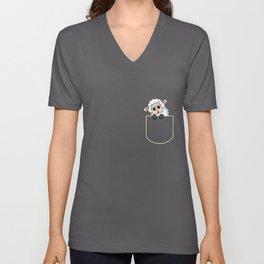Lamb In The Pocket Gift Sheep Pocket T-Shirt Unisex V-Neck