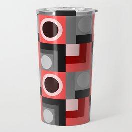Pink and Grey Geometical Travel Mug