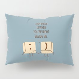 Happy Smile Keyboard Buttons Pillow Sham