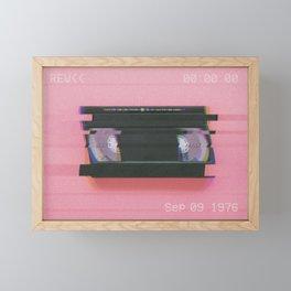 Video tape#VHS#REW<<#effect Framed Mini Art Print